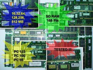 Computer 128MB 256MB 512MB SDRAM 168pin PC-133 Mhz DIMM Desktop Memory Non-ECC