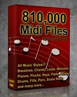 810,000 Midi Pack Collection 2021 FL Studio, Reason, Ableton Cubase Acid Logic