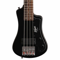 Hofner Shorty Electric Travel Bass - Black w/ Gig Bag