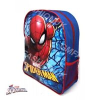 Kids Boys Junior MARVEL SPIDERMAN Backpack School Lunch Bag Rucksack Character