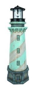 "32"" Magnesium Oxide Light Sensor LED Solar Lighthouse Lawn Statue Garden Decor"