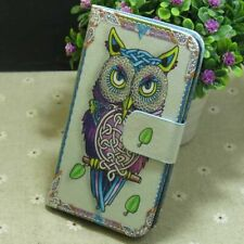 1x Cool OWL Wallet Card Holder Flip TPU Case Cover for Various Smart Phone