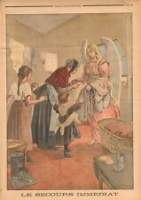 France Ange au Secours Famille Vêtements Angel Family Clothing 1899 ILLUSTRATION