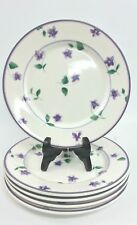 Waverly Garden Room Sweet Violet 5 Salad Plates 8""