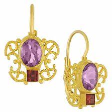 Gazebo Amethyst and Garnet Earrings: Museum of Jewelry