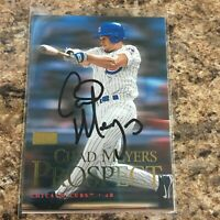 Chad Meyers Signed 2000 Fleer Skybox Auto Chicago Cubs