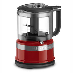 KitchenAid 3.5 Cup 2 Speed Mini Food Processor and Chopper, Red (Refurbished)