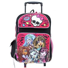 """Monster High 16"""" inches Large Rolling Backpack - BRAND NEW - Licensed"""