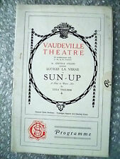 Theatre Programme- Lucille La Verne in SUN UP by Lula Vollmer