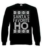 Santa's Favorite Ho Quirky Quotes Funny Merry Jumper Sweater Pullover XM71