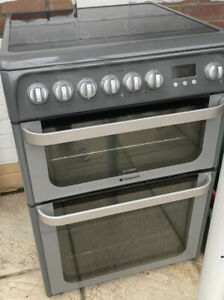 Electric cooker,  60cm Hotpoint Ultima.