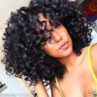 ladies Fashion wig Charm Women's short Black Curly Natural Hair Classic wigs+
