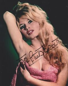Brigitte Bardot HAND SIGNED 8x10 Photo Autograph & God Created Woman Contempt G