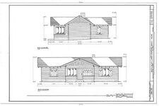 Craftsman Home plans, Timber framed Shingle Style 1 story house, printed plans