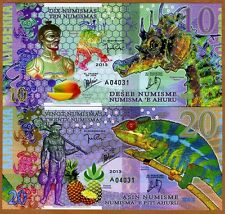 SET, Kamberra, 10 + 20 Numismas, POLYMER, 2013, UNC > Commemorative