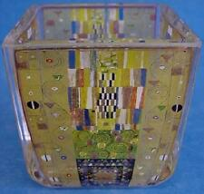 Goebel HANDMADE ART GLASS TEALIGHT-il Stoclet FRIEZE BY Gustav Klimt - 4443