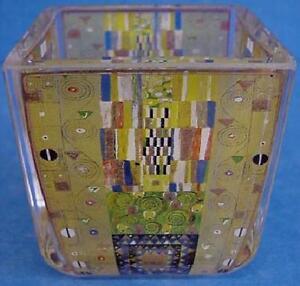 GOEBEL HANDMADE ART GLASS TEALIGHT - THE STOCLET FRIEZE BY GUSTAV KLIMT - 4443