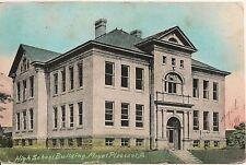 High School Building Mount Pleasant PA Postcard