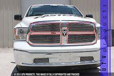 GTG 2013 - 2016 Dodge Ram 1500 4PC Polished Overlay Billet Grille Grill Kit