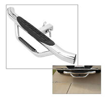 """Go Rhino D360PS 3"""" Round Dominator Rear Trailer Hitch Step Hitchstep Bumper S/S"""