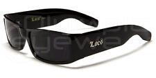 Mens LOCs All Black Hardcore Gangster Sunglasses Shades Black Smoked Lenses