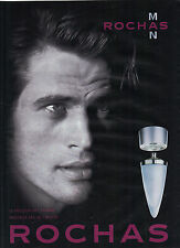 PUBLICITE ADVERTISING  2005    ROCHAS  MAN  nouvelle eau de toilette parfums