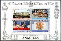 Anguilla 1978 Coronation 25th Anniv MNH M/S #R484
