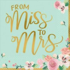 Bridal Shower Paper Napkins From Miss to Mrs Serviettes Party Table Decorations