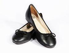 Ladies Black Leather Ballerina Flat Pumps - Brand New Size 5