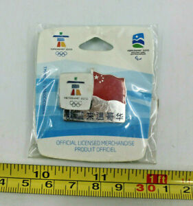 2010 Welcome Flag China Vancouver Winter Olympics Collectible Pin Limited New