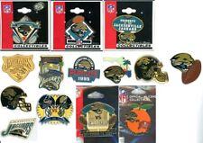 Jaguars Vintage Pin Choice 12 Pins Some new on card Jacksonville AFC NFL Brunell