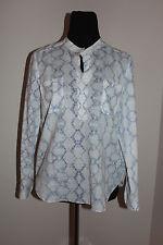 Rebecca Taylor Tie Dye Frostc Silk/cotton Long Sleeve Blouse Sz 6
