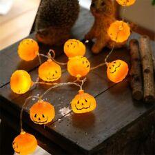 String Light Halloween Decoration Warm White Home Accessory 1Set Pumpkin 10 LED