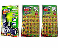Sure Shot Swat Gun Toy+ 400 Sure Shots Ring Caps For Childrens Outdoor Play Game