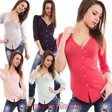 Cardigan donna maglia maniche lunghe scollo V leggero giacca nuovo CC-1250