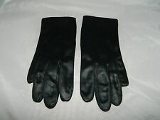 Vtg Fownes 100% Silk Lined Black Tailored Gloves Size 6