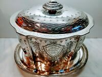 Stunning Quality Antique Victorian Silver Plate Biscuit Casket circa 1890