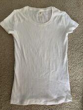 Banana Republic Womens Size XXS Solid White Scoop Neck T-Shirt Top NWOT