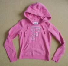 ABERCROMBIE & FITCH A&F Bright Pink Warm HOODIE SWEATSHIRT Sz Women's SMALL Cute