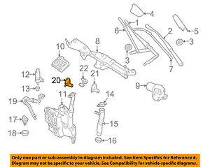 Windshield Wiper Washer-Nozzle Spray Jet Right 1648601047