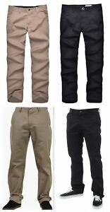 Volcom Mens Smart Casual Chino Pants Trousers  -Black or Khaki /Regular or Slim