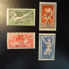 FRANCE COLONIE SYRIE N°149/152 JEUX OLYMPIQUES PARIS 1924 OLYMPICS GAMES NEUF *