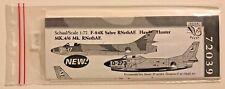 Dutch Decal 1/72 F-86K Sabre and Hunter Mk.4/6. RNethAF. 72039