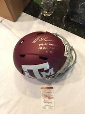 TAMPA BAY BUCCANEERS MIKE EVANS signed INSCRIBED FULL SIZE TEXAS A&M HELMET JSA