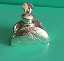 Lovely Vintage Sterling Etched  Perfumer Pendant  New Condition  Free Shipping!