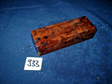 Nussbaum Maserholz Messergriffblock  Messergriff    120 x 40 x 30 mm     Nr: 933