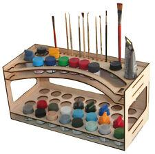 Microdisign Tamiya, Mr.Hobby Paint Storage Rack Wooden for Modeler 000102