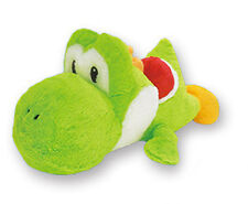 Nintendo 14'' Yoshi Green Belly Flop Prize Plush Doll Anime Manga MINT