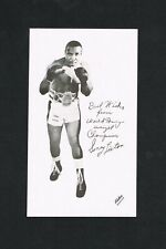 RARE 1960's Sonny Liston personal lg handout greeting card boxing Muhammad Ali