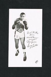 RARE 1960's Sonny Liston personal lg handout greeting card boxing Muhammad Ali